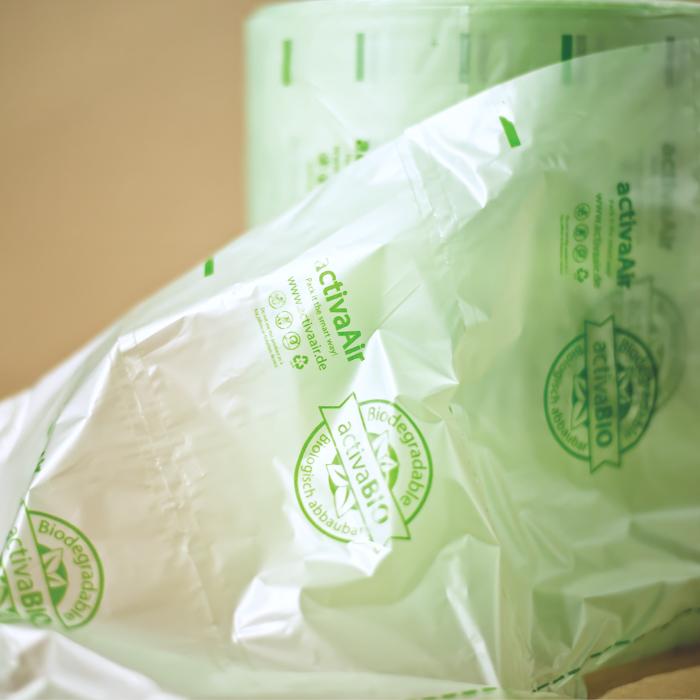 Biodegradabilní plastové vzduchové polštáře