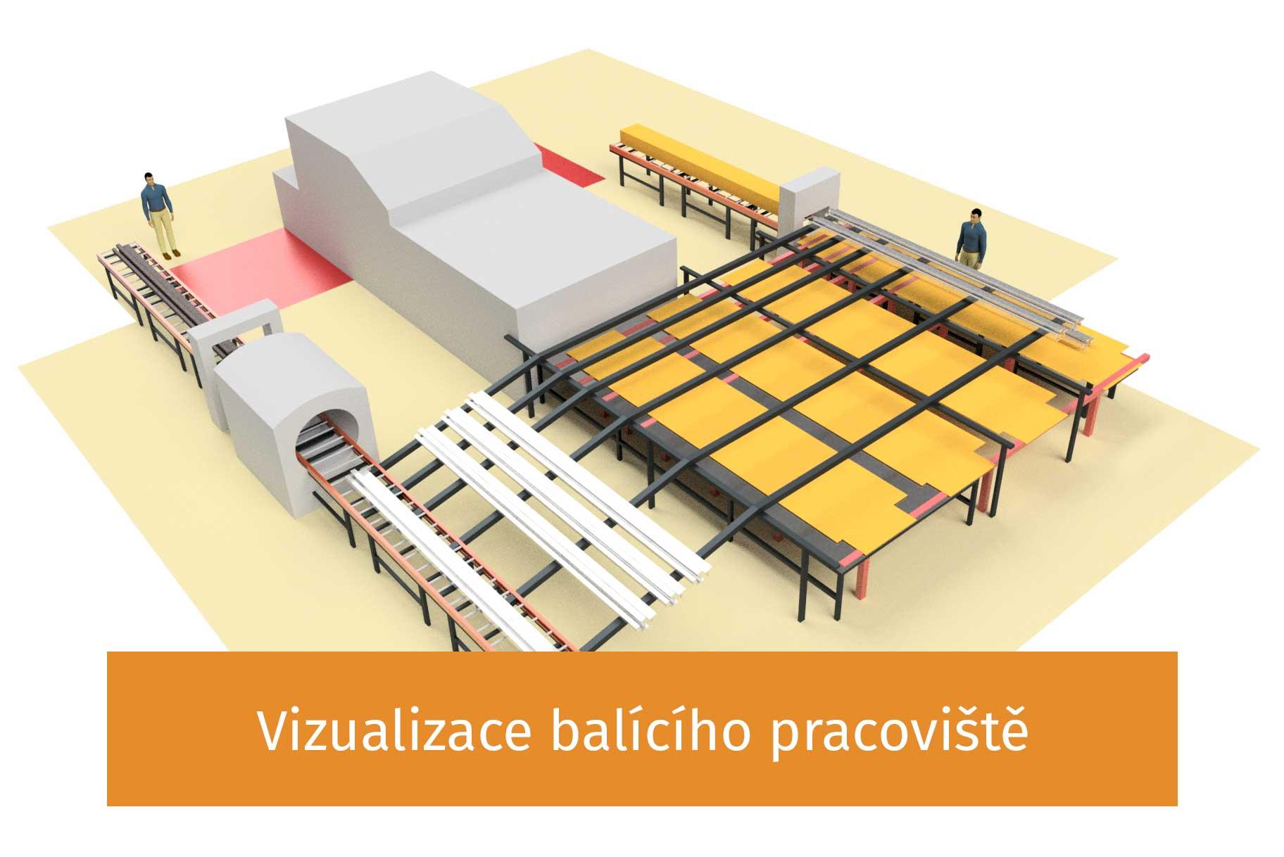 Vizualizace balícího centra