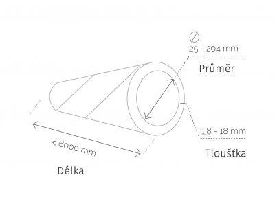 Papírový tubus náčrt